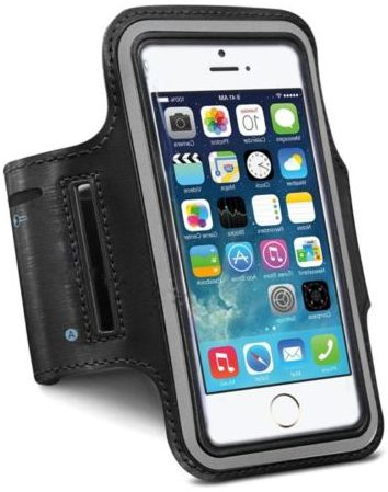 superior quality 008aa a0da6 Sports Running Armband Case Cover Holder for iPhone 6 & Samsung S5, Black