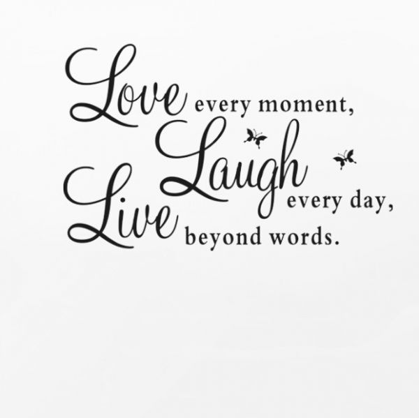 Removable Wall Sticker Live Laugh Love Home Decor Kanbkamcom