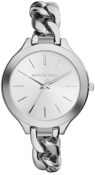 9a6ec039afe2 Michael Kors Slim Runway for Women - Casual Stainless Steel Band ...