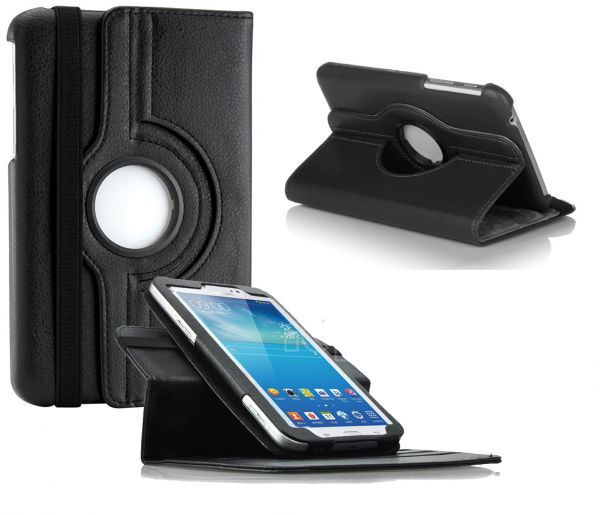 ... 360 Rotating Case cover for Samsung Galaxy Tab 3 7 0 P3200 P3210 Black