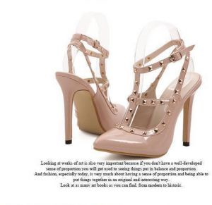 6141fc36150 317-13 Aara s Europe brand coyotes blasting with rivets shoes high heels  shoes 39EU