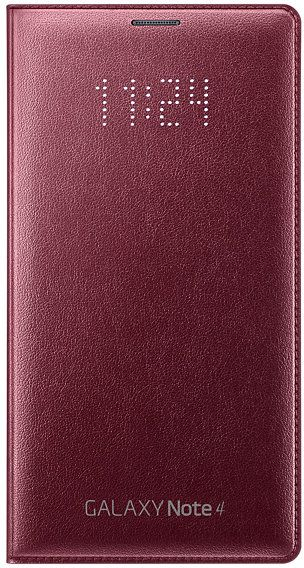 wholesale dealer 3f6da 30835 Samsung Galaxy Note 4 LED Flip Wallet Cover/ Case - (Plum Red)