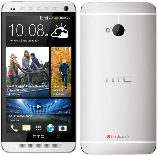 HTC One M7 Dual SIM (32 GB, WiFi + 4G LTE, Silver)