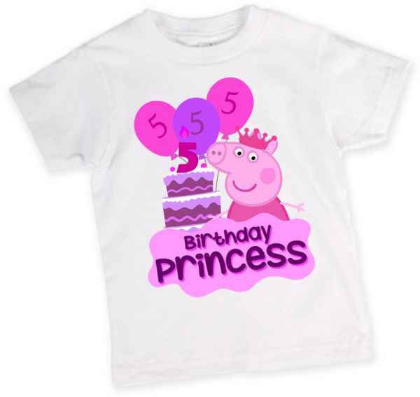 Peppa Pig 5th Birthday T Shirt