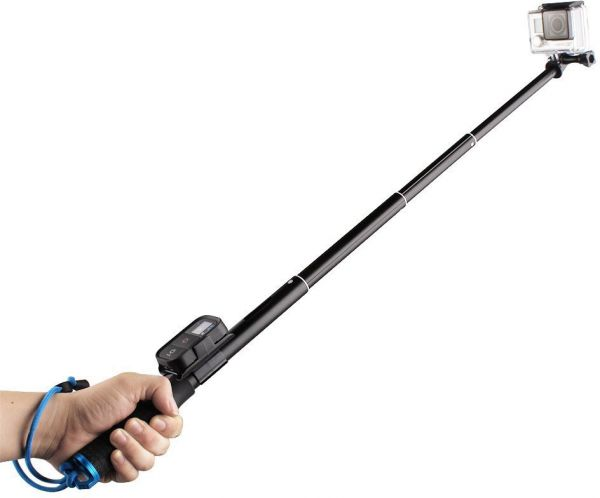 659c376a05aa83 Ozone GoEasy Pole Extendable Monopod Selfie Stick with Wifi Remote Mount  for Gopro Hero3 Hero4-Black