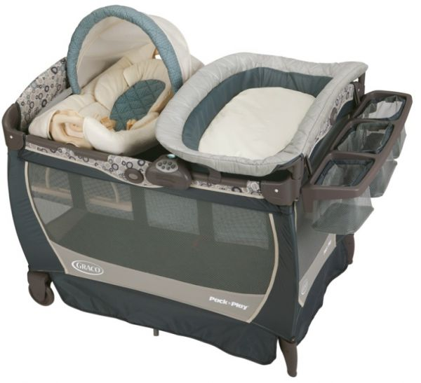 Graco Pack N Play Travel Cot With Cuddle Cove Lx Rocking