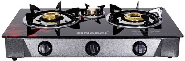 Superbe Nobel 3 Burner Gas Table Top Stove, Black [NGT 3000]