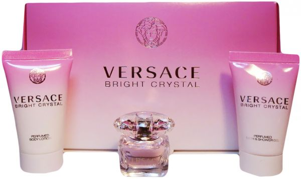 6bad7a822 Versace Bright Crystal 3Pcs Combo Gift Set - (Perfume, Shower Gel, Body  Lotion)