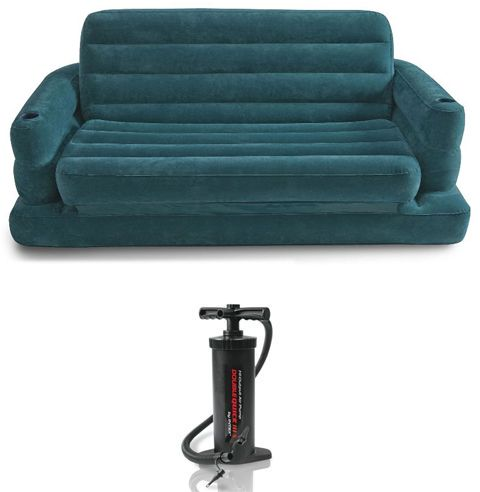 Astonishing Intex 68566 Two Person Inflatable Pull Out Sofa Bed With Manual Pump Alphanode Cool Chair Designs And Ideas Alphanodeonline