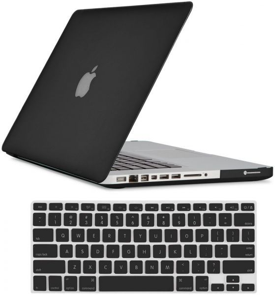 Crystal Black Hard Shell Case Keyboard Cover For Apple .