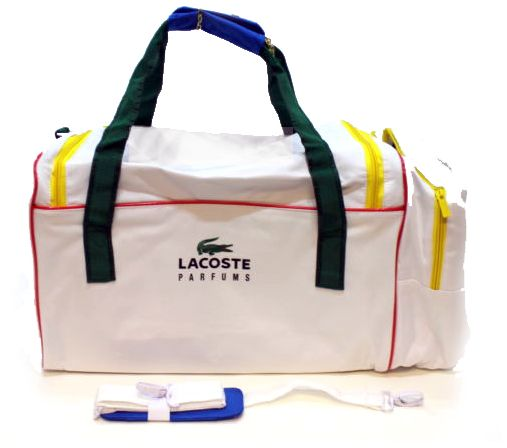 6a8c450b8e LACOSTE WHITE SPORTS BAG - HOLDALL WTH SHOULDER STRAP