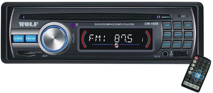 Wolf CW-1000 Car DVD and MP3 Player - Black