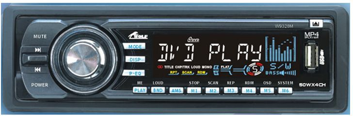 Wolf W9328m Car DVD and MP3 Player - Black