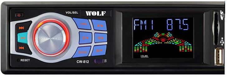 Wolf CW812 Car Digital Audio Player - Black