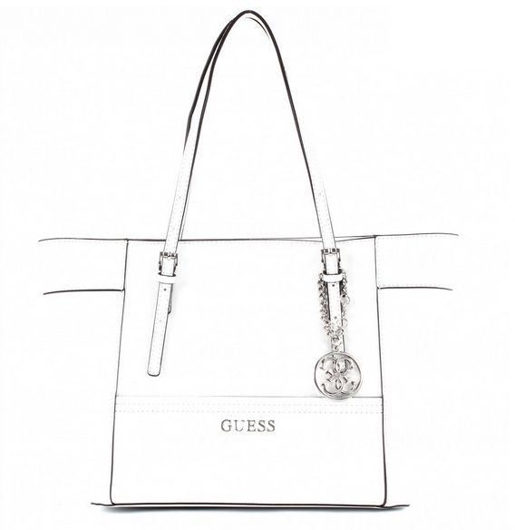 902f608510523 Buy Guess Women s Delaney small classic Tote Bag- white ey453522 ...