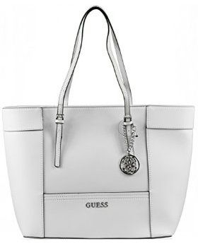 81649165852 Guess Women s Delaney medium classic Tote Bag- white ey453523   Souq ...