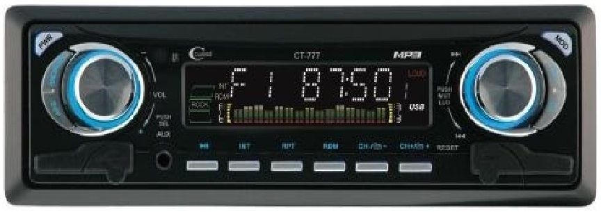 CitiSound CT-777 Car Audio Stereo SD/USB/MP3 Player - Black