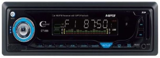 CitiSound CT-888 Car Audio Stereo SD/USB/MP3 Player - Black