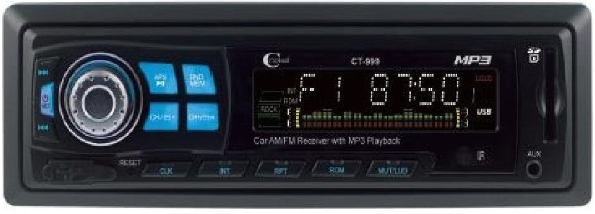 CitiSound CT-999 Car Audio Stereo SD/USB/MP3 Player - Black