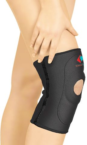 Elastic Medical Neoprene Knee Band With Opening For Kneecap Souq
