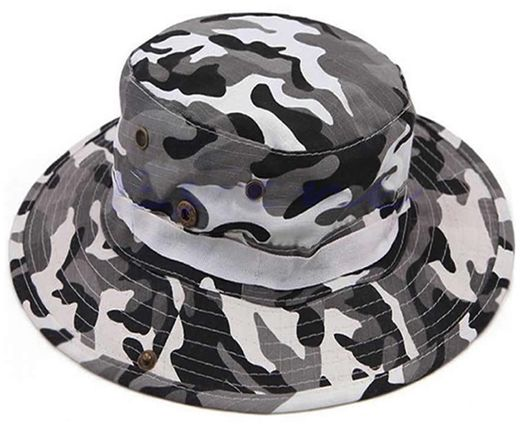 e0d253ce36d Camouflage Military Outdoor Cap Hiking Mountaineer Camping Fishing Boonie  Hat BQ790