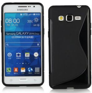 Calans Samsung Galaxy Grand Prime G530 S Body Tpu Case Cover With Screen Protector - Black