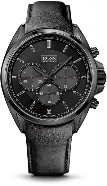 8c7f679f4 Hugo Boss Driver Men's Black Dial Leather Band Chronograph Watch - 1513061