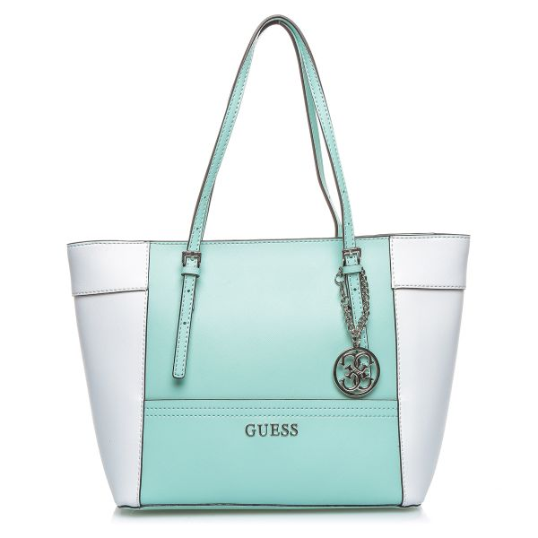 503d957fa0fb Guess EY453522 Delaney Small Classic Tote Bag for Women - PVC