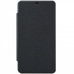 Nilkin Microsoft Lumia 640 XL Sparkle Series Flip Leather Case Cover With Screen Protector - Black