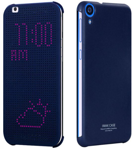 info for 62e8c 8275f imak HTC DESIRE 820 Dot Smart View Flip Case Cover With Screen Protector -  Deep Blue