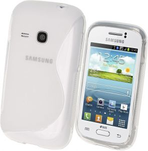 Calans Samsung Galaxy Young S6310 S Body Tpu Case Cover - Clear