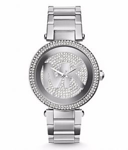 451d4e480 Michael Kors Parker Pave Women's Silver Dial Stainless Steel Band Watch -  MK5925