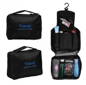 a9b1771dc99f Travel Toiletry Wash Bag Makeup Case Grooming Hanging Bag