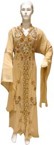Gold Party Abaya For Women