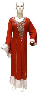 Red Party Abaya For Women