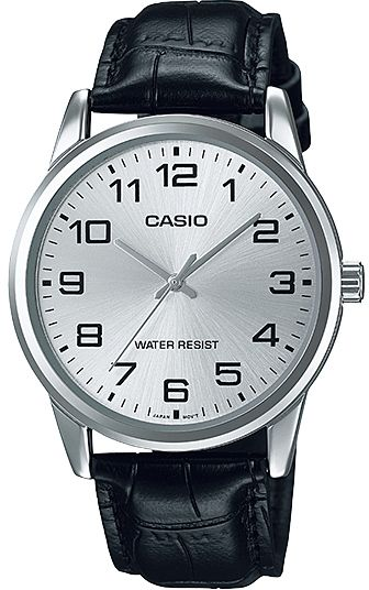Casio Mtp V001l 7budf Analog Leather Dress Watch For Men Black Quartz