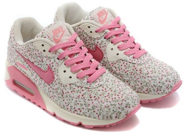 Nike Air Max 90 Womens Shoes - Flower Art Series Pink Orchids Size ... cb0d499fcb