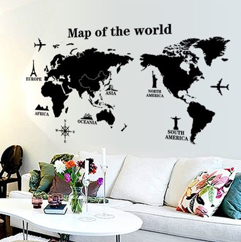 Souq world map removable wall sticker uae world map removable wall sticker gumiabroncs Images