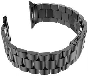 For Apple Watch 42mm - Replacement Stainless Steel Watch Band with Axel  Adapters - Charcoal Black 722e5f36e18