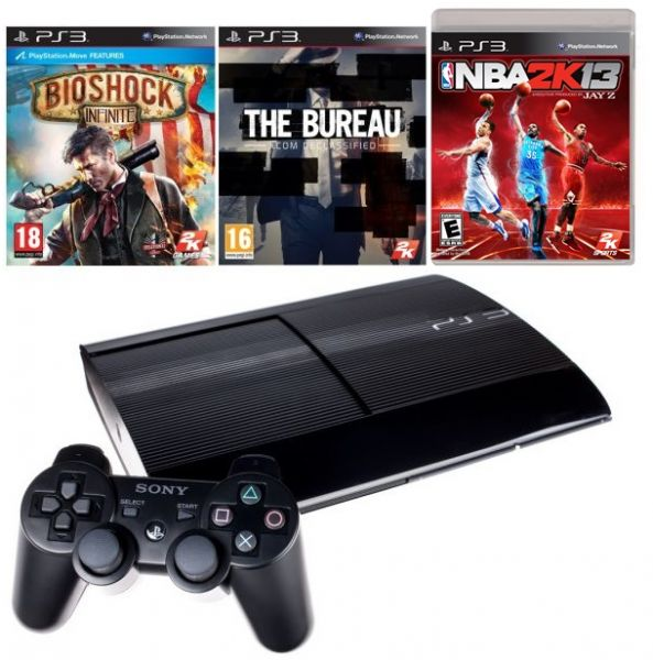 souq sony playstation 3 12gb 1 controller black bundle with 3