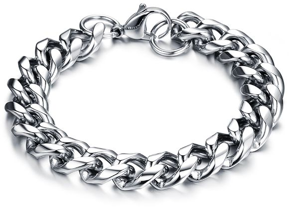 a908fd7b1de8 Men Fashion Sterling Silver Chain Bracelet jewelry for unisex