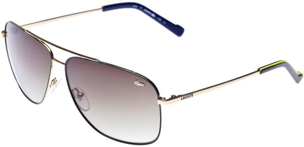 22ec3fdf28f Lacoste Aviator Men s Sunglasses - Gold L128S 714 -61 -12 -135 ...