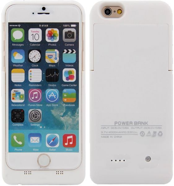 buy popular b9475 4e96b 3800mAh External Battery Backup Charger Case Power Bank For iPhone 6 4.7  Inch White