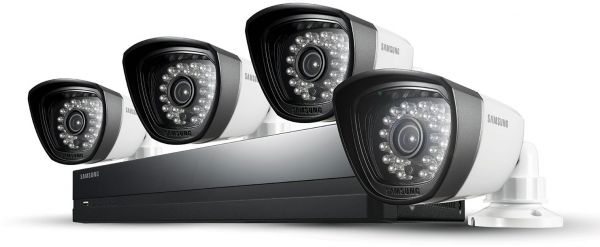 Samsung Sds P3042 4 Channel 500gb Dvr Home Security System With 4