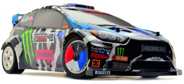 RC CAR HPI Ken Block WR8 Flux with Ford Fiesta ST RX43 Body  594c76e42d
