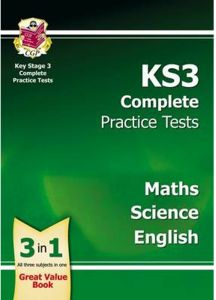 KS3 Complete Practice Tests Science, Maths and English - Paperback