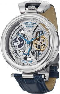4580a18250fb6 Stuhrling Original Emperor s Grandeur Men s Silver Dial Leather Band  Automatic Watch - 127A.3315C2