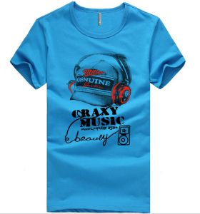 0978597b8d01 Fashion City Crazy Music Printings Simple Style Blue T-Shirt For Men (Dt203-E)