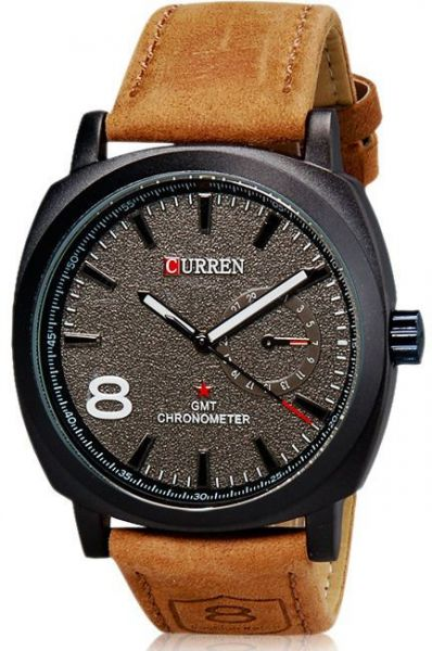 8f97d1aca Pair of Curren Military for Men - Analog Leather Band Watch - 8139 ...