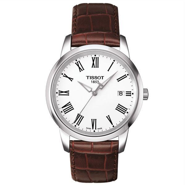Tissot Swiss Made Men s Classic Dream White Dial Leather Band Watch -  T0334101601301 063d680446